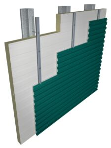 Back-Up Wall Assembly for solar air heating